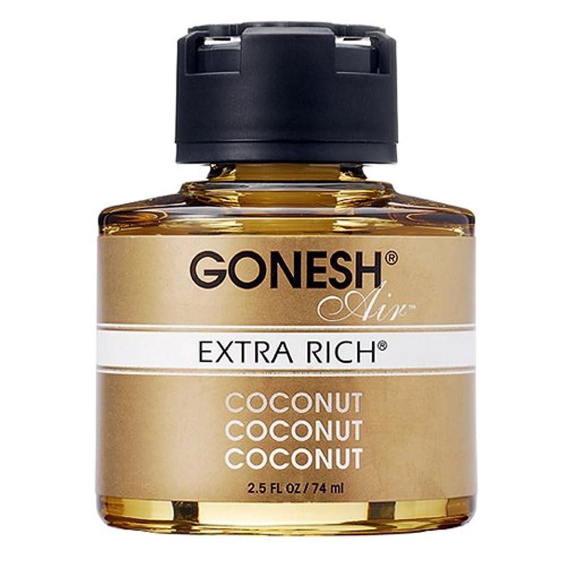 プラグ必要ない表面的なGONESH リキッドエアフレッシュナー ココナッツ