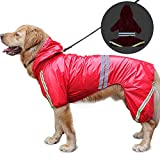 HALOViE 犬 用 レインコート ペットレインコート カッパ 雨具 反射テープ付き 帽子付 通気 完全防水 耐久性 快適 多色 多サイズ 小中大型犬対応 XL-5XLサイズ