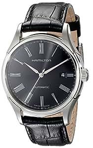 [ハミルトン]HAMILTON 腕時計 Valiant auto(バリアント オート) roman BLK leather H39515734 メンズ 【正規輸入品】
