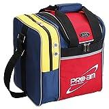 ABS ボウリング バッグ B17-310 レッド/イエロー/ブルー ボール1個用バッグ ボウリング用品 ボーリング グッズ
