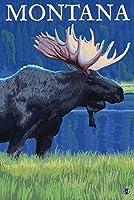 モンタナ–Moose 24 x 36 Giclee Print LANT-12577-24x36