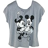 Disney Women's Plus Size Mickey and Minnie Mouse Tee