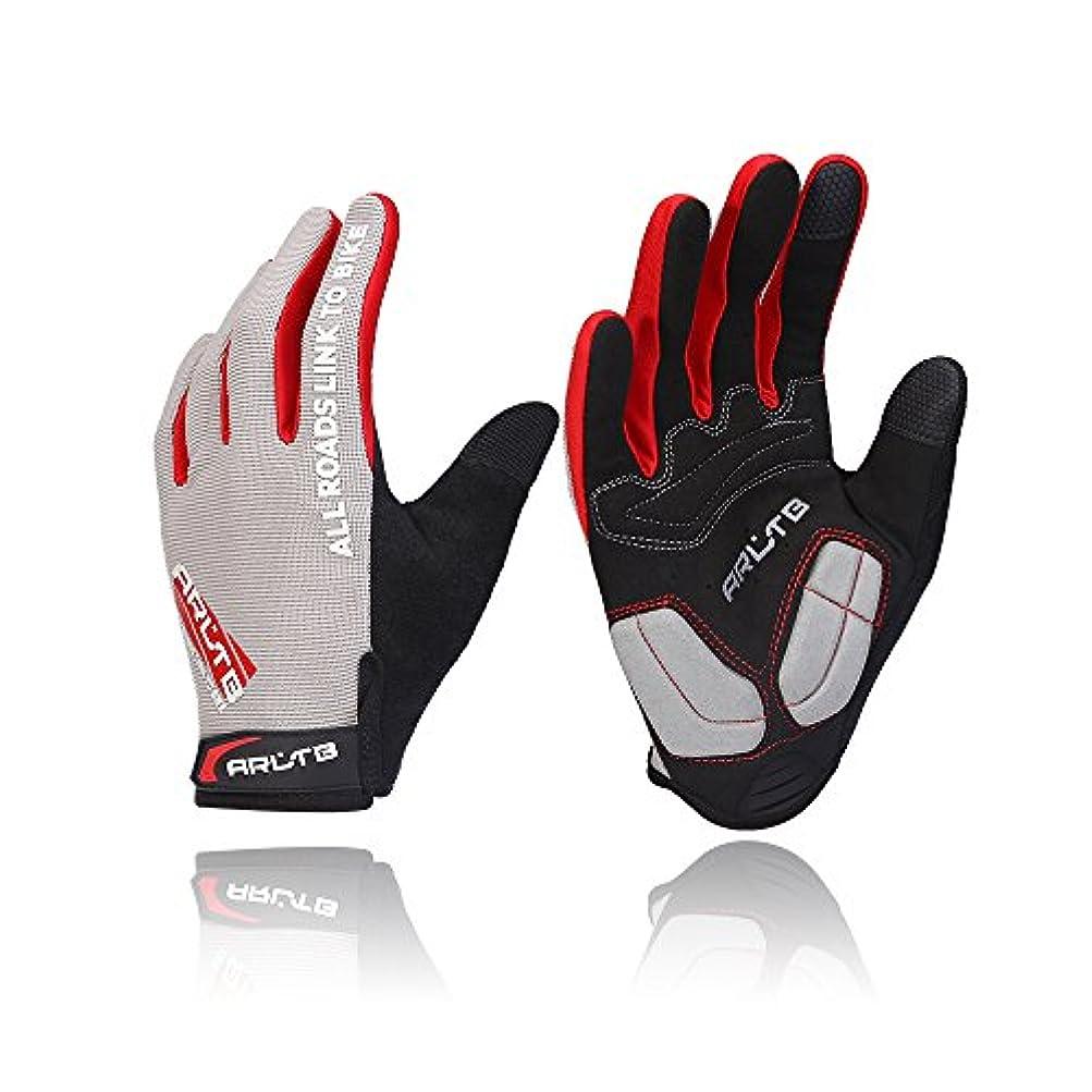 マークされたスリップシューズ不承認Arltb 3 Sizes Cycling Gloves 3 Colors Bicycle Bike Biking Gloves Mitts Full Finger Pad Breathable Lightweight For Bike Riding Mountain Bike Motorcycle Free Cycle BMX Lifting Fitness Climbing