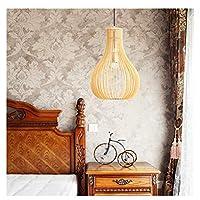 H.Q 北欧レストラン木製アートシャンデリア無垢材ペンダントライト寝室の装飾バーランプ天井照明