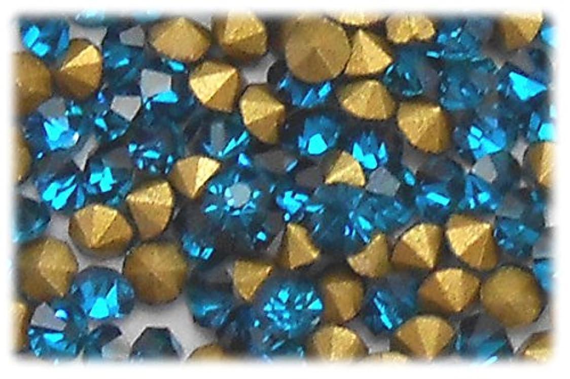 貧しい縫うハッチラインストーン ブルー 1セット(144個入り)X3 サイズ約2.0mm blu-ss6