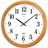 SEIKO CLOCK (セイコークロック) 掛け時計 電波 アナログ 木枠 天然色木地 KX311B