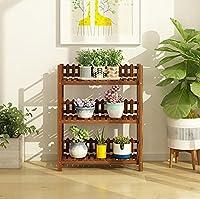 立ちフラワースタンド 花の棚の多層屋内の木のバルコニーの居間フロアの棚のセット植物のラック植物の鍋のラック 装飾フレーム (サイズ さいず : L70*W25*H85CM)