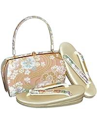 [ 京都きもの町 ] 草履バッグセット 礼装用 Lサイズ 段ぼかし 流水に花模様 フォーマル <T>