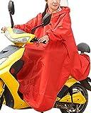 メンズ コート haruju レインコート レインポンチョ ロングポンチョ バイク 自転車 車いす (レッド)