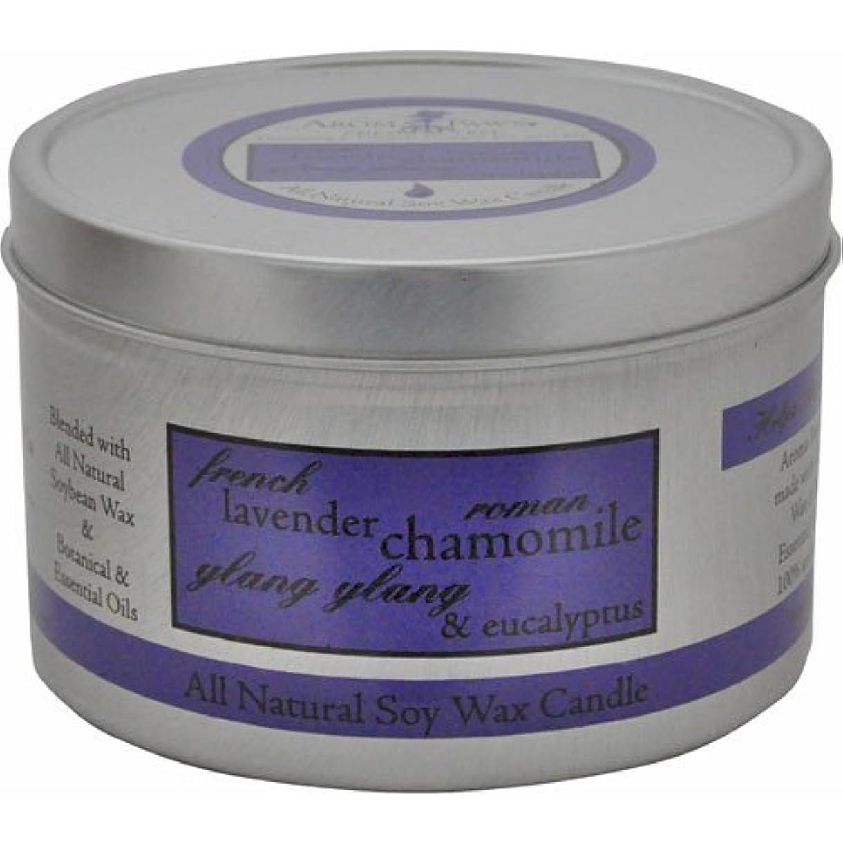 に付けるサイトライングラムAroma Paws Travel Tin Candle, 8-Ounce, Lavender Chamomile by Aroma Paws