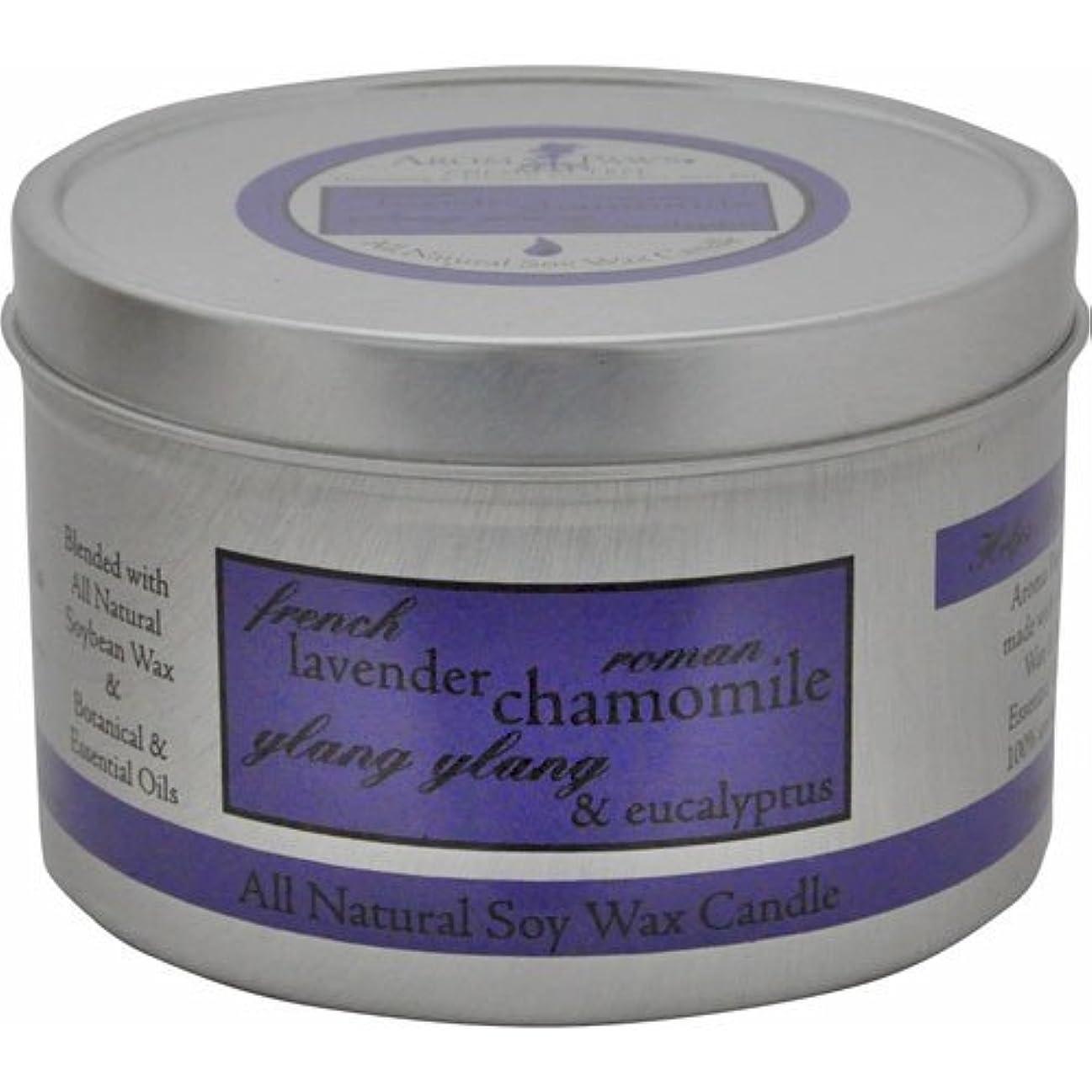 ラボ北米法的Aroma Paws Travel Tin Candle, 8-Ounce, Lavender Chamomile by Aroma Paws