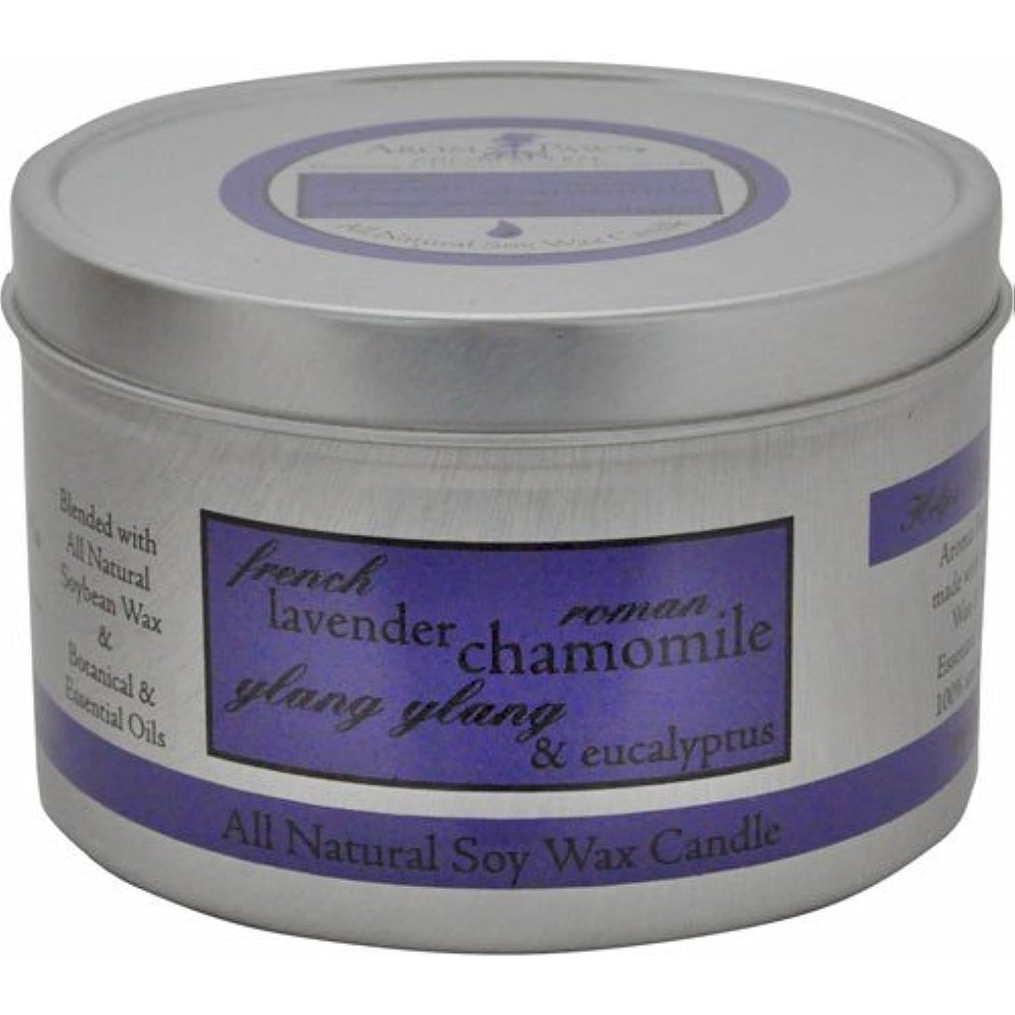 傀儡ガラガラゴミ箱を空にするAroma Paws Travel Tin Candle, 8-Ounce, Lavender Chamomile by Aroma Paws