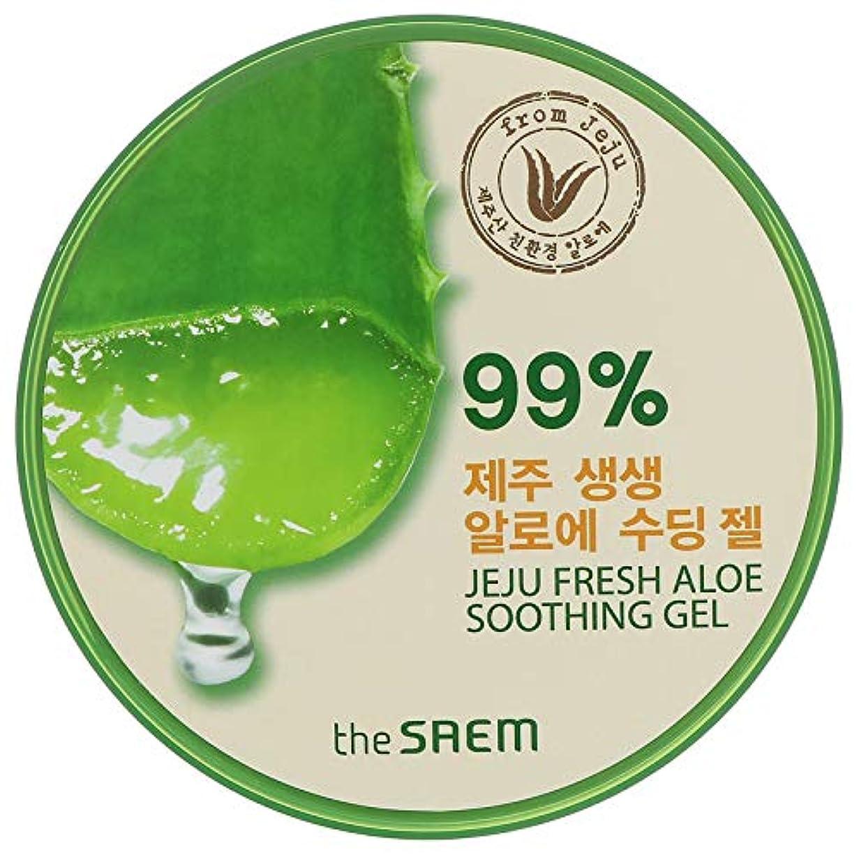 余分な省略解明する即日発送 【国内発送】ザセム アロエスーディングジェル99% 頭からつま先までしっとり The SAEM Jeju Fresh ALOE Soothing Gel 99%