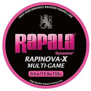 ラパラ(Rapala) ラピノヴァX マルチゲーム ピンク 0.6号 13.9lb 150m Rapinova-X Multi Game 150M . RLX150M06PK