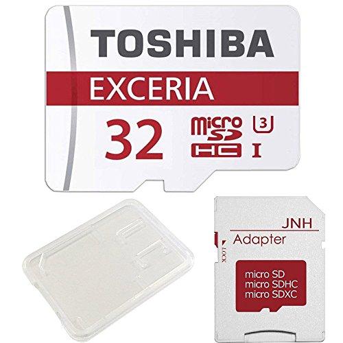 【3年保証】東芝 Toshiba 超高速U3 4K対応 microSDHC 32GB + SD アダプター + 保管用クリアケース [並行輸入品]