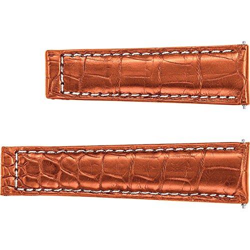 Honey 20mmメンズ\ u0027s Genuine AlligatorセンターWatch Strap for Rolexデイトナ