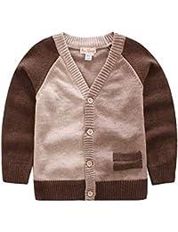 e306bbd36002b Amazon.co.jp  ブラウン - カーディガン   ボーイズ  服&ファッション小物
