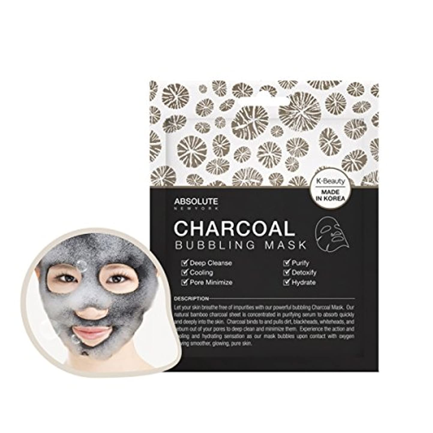 バッチ精神的にジェット(6 Pack) ABSOLUTE Charcoal Bubbling Mask (並行輸入品)