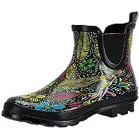 SheSole Ladies Women's Rubber Rain Wellington Boots Chelsea Short Ankle Gumboots