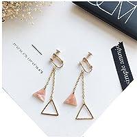 女性の女の子のピンクシリーズの耳のクリップは、日常に適して