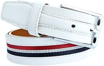 ( ウェニダ)WEINIDA ゴルフ ベルト メンズ 本革 ビジネス ロング レザー サイズ調整可能 紳士 カジュアル ホワイト LOWD108-01