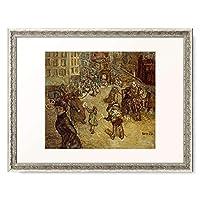 ピエール・ボナール Pierre Bonnard 「Blumenverkaufer auf der Place Blanche.」 額装アート作品
