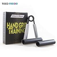 TOCO FREIDO ハンド グリップ 握力グリッパー 【20~100KGまで】 握力 トレーニング 握力強化 器具 リハビリ用 カバー付き 長時間使用可能 (136KG)