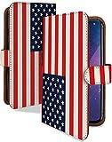 AQUOS Xx3 mini ケース 手帳型 国旗 アメリカ かっこいい 世界の国旗 スマホケース アクオス ダブルエックス ミニ 手帳 カバー AQUOSXx3mini xx3 miniケース xx3 miniカバー 旗 USA アメリカ国旗 [国旗 アメリカ/t0530b]