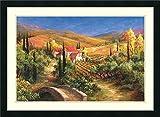 アートフレーム印刷' Tuscanブリッジ' by Art Fronckowiak Size: 30 x 22 (Approx), Matted ブラウン 3229564