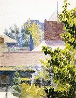 手描き-キャンバスの油絵 - St Cloud near パリ naturalistic Thomas Pollock Anshutz 芸術 作品 洋画 ウォールアートデコレーション -サイズ11