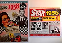 1958 Birthday Gifts Pack - 1958 DVD Film , 1958 Chart Hits CD and 1958 Birthday Card