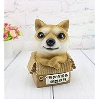 HuaQingPiJu-JP クリエイティブバースデーギフト子犬ピギーバンク犬プレゼント(カーキ)
