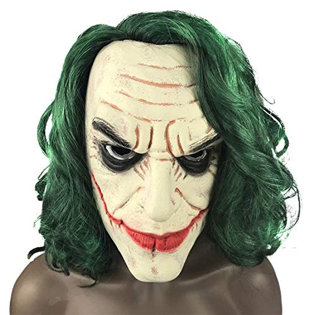 証言十非常に怒っていますバットマンピエロマスク男性ホラーボールCosドレスアップハロウィーンダークナイト映画ラテックスマスク
