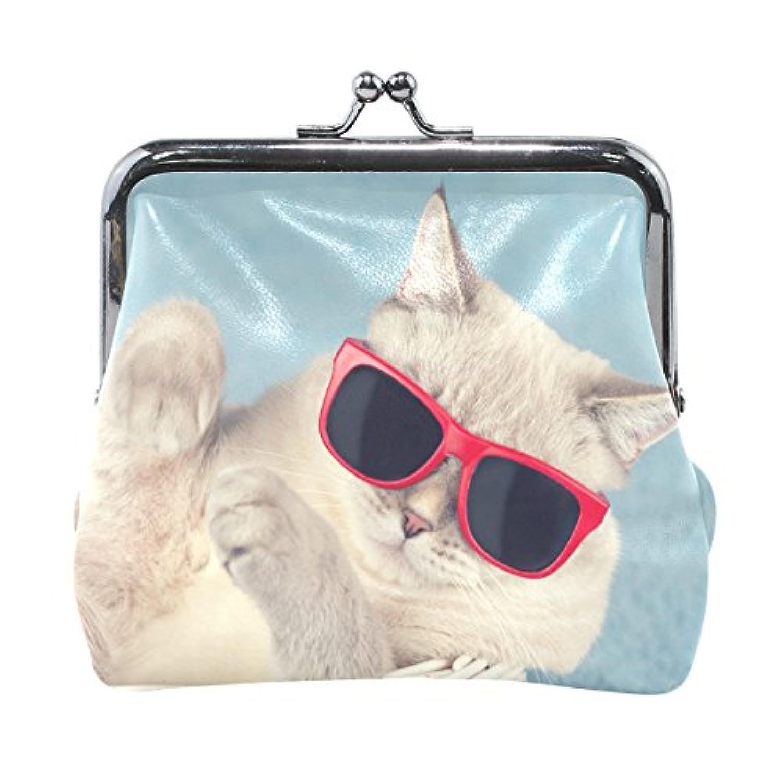 バララ(La Rose) 財布 がま口 小銭入れ レディース ブランド 和柄 かわいい PU 革 レザー おもしろい ネコ 猫柄 学生 ミニポーチ 財布 ポーチ 小物入れ コイン 鍵 カード収納 約幅11.5cmx10.5cm