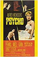 Black Creations Psycho 1960 1映画ポスターキャンバス絵アートプリントプレミアム品質A0 A1 A2 A3 A4(A4キャンバス(8/12))
