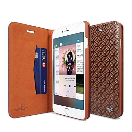 【CAPAS】iPhone6 / iPhone6S ケース 手帳型 [本牛革 カード収納 スタンド機能 マグネット式] アイフォン6/6S (4.7インチ) 専用レザースマホケース カバー (iPhone 6S/6 ブラウン)