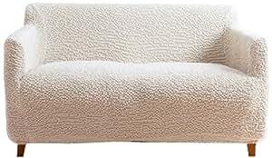 縦横 ストレッチ ぴったりフィット ソファーカバー(肘付き3人掛け 幅160〜180cm) アイボリー 47425D08
