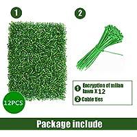 MYHO ジョイント式人工芝 壁掛け ウォールグリーン 12枚セット 60x40cm 壁掛け マット フェイクグリーン 人工観葉植物 緑化 ディスプレイ 植物 マット