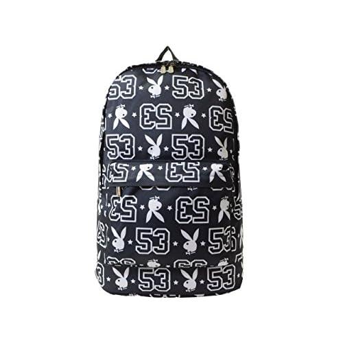 (プレイボーイ) PLAYBOY バッグ BAG ラビットヘッド モノグラム リュックサック バックパック ポリエステル ブランド 並行輸入品 NV×WH