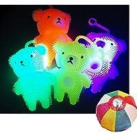 【光る玩具】フラッシュくまちゃんヨーヨー 12個/ お楽しみグッズ(紙風船)付きセット [おもちゃ&ホビー]