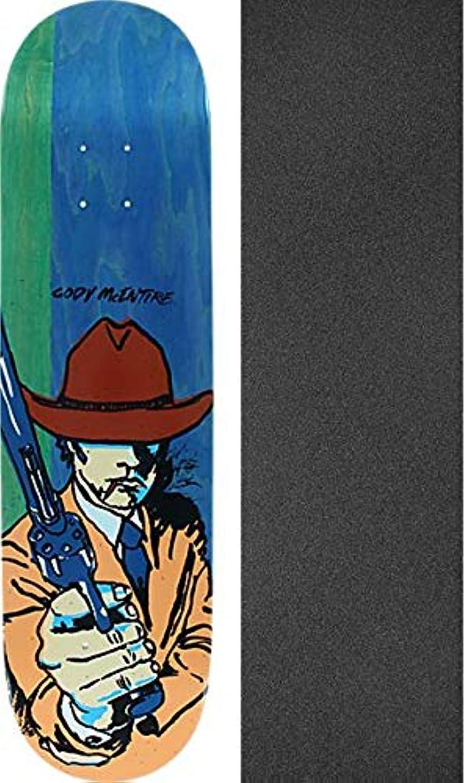 咲く投票醜いBlind Skateboards Cody McEntire All Star スケートボードデッキ 樹脂 7-8インチ x 31.7インチ モブグリップ穴あきグリップテープ付き - 2つのアイテムセット
