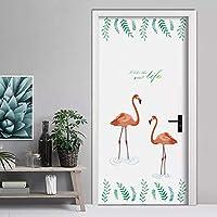 Dtcrzj フラミンゴ花ウォールステッカーリビングルームの寝室の装飾漫画動物家の装飾Pvc壁飾りDiyアートポスター