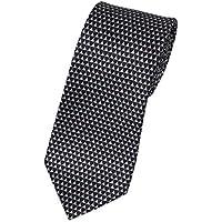 (ブルガリ)BVLGARI  ブルガリ ネクタイ 241255 メンズ プリント デザイン ブラック/グレー [並行輸入品]