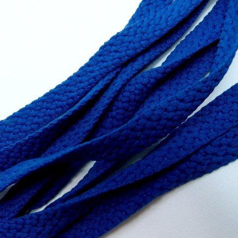 靴ひも(靴紐) シューレース 無地平紐 青ブルー ETSR-716【125cm,,SHOELACEくつひも】