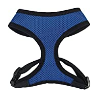 Casual Canine ZA888 16 19 Mesh Harness Med Blue