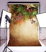 写真撮影背景ビニール3x 5ftクリスマステーマ画像Backdrop Studio Props Merry Christmas