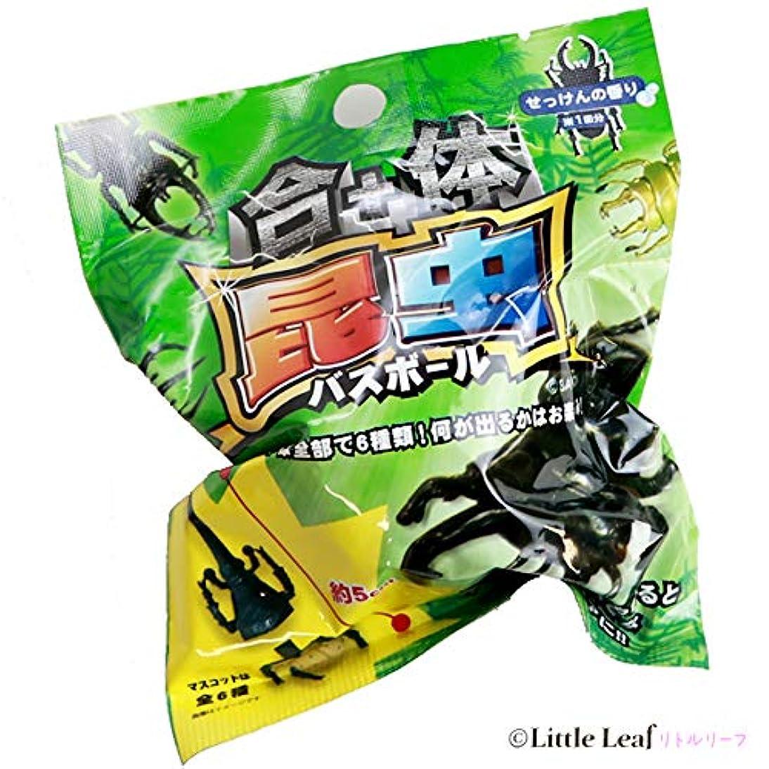 識別シャークリエイティブサンタン 合体昆虫バスボール 入浴剤 せっけんの香り 1個(80g)