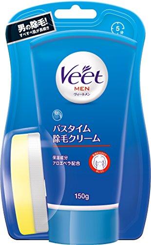 ヴィート メン Veet Men バスタイム除毛クリーム 敏感肌用 専用スポンジ付き 150g 男性用 ムダ毛ケア用