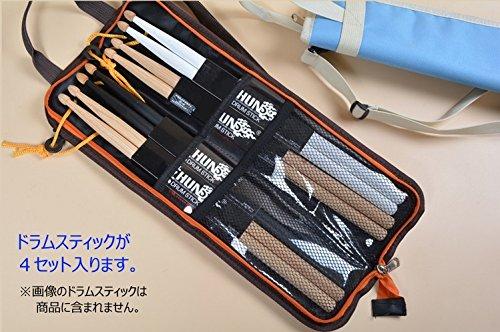 SLENDA ドラムスティックケース 4セット(8本)収納 フロアタムに引っ掛けるフックつきストラップ標準装備 (ベージュ)