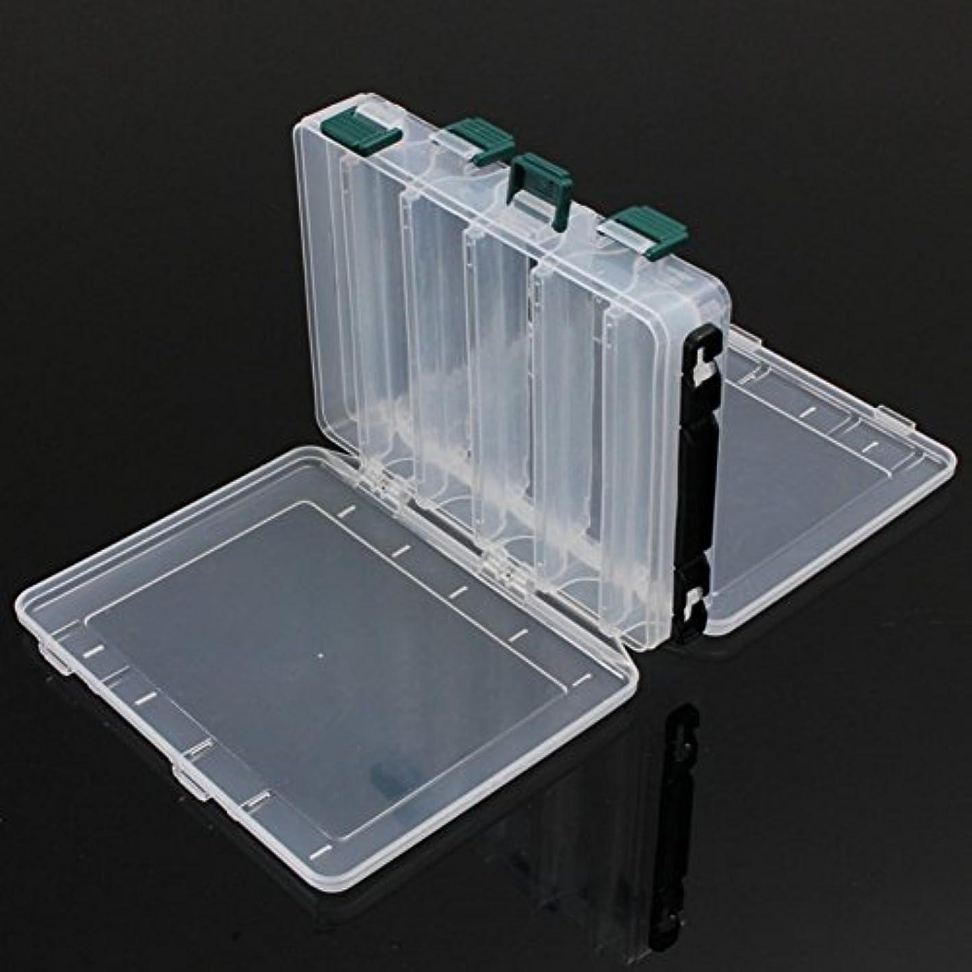 資金弾薬急勾配の(12-Compartment Double-sided) - RG 12/16 Compartments Double Sided Fishing Tackle Box Waterproof Visible Hard Plastic Clear Fishing Lure Bait Squid Jig Minnows Hooks Accessory Storage Case Container